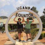 am Äquator in Uganda