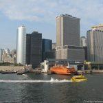 Blick auf Manhatten von der Staten Island Ferry