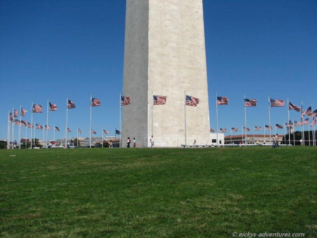 Flaggenmast am Washington Monument
