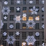 Schneeflocken am Rockefeller Center