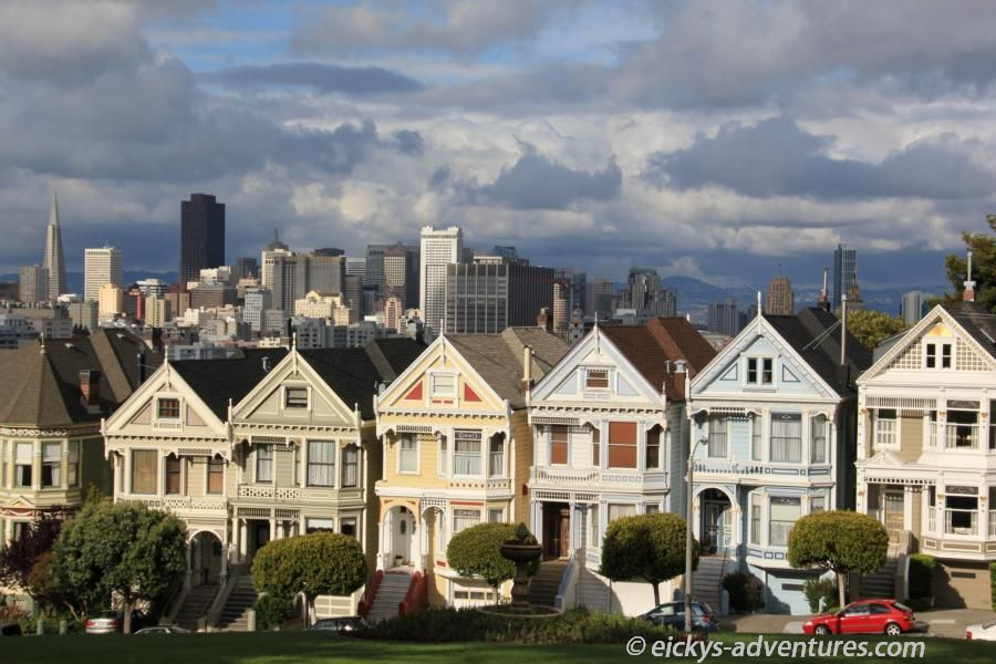 Painted Ladies am Alamo Square