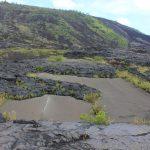 Chain of Craters Road: Etwas Alte Straße, die nicht vom Lava Flow erfasst wurde gibt es am Alanui Kaiko Lookout zu sehen.
