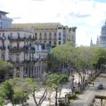 Blick auf den Prado vom Balkon