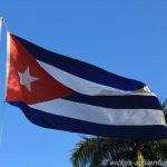 Vinales: cubanische Flagge im Parque Jose Marti