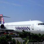 unser Flieger von Hawaiian