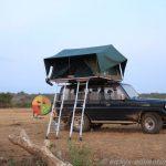 Camping auf der Mweya Peninsula