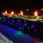 Dinner under the stars: Sandbank Oshagalhi