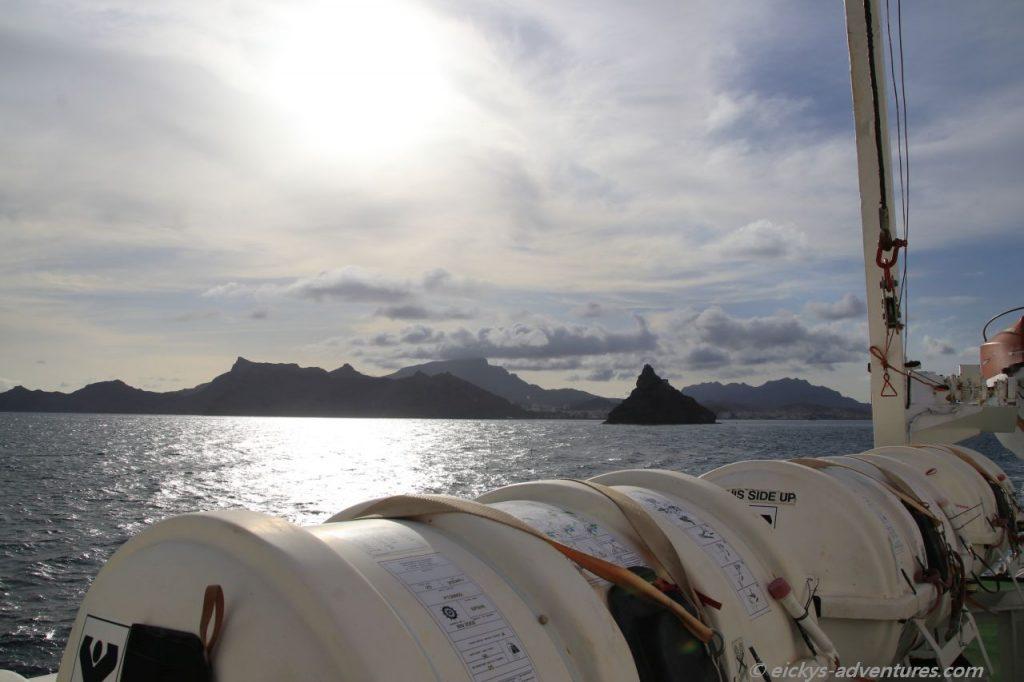 Blick zurück auf Sao Vicente