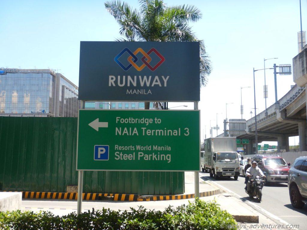 Fußgängerübergang von Newport zum Terminal 3