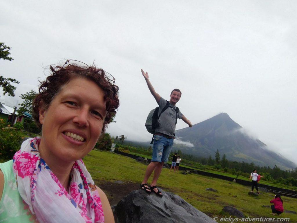 Mount Mayon an den Cagsawa Ruins