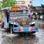 geflutete Straßen in Legazpi