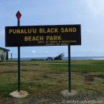 Punaluu Black Sand Beach Park